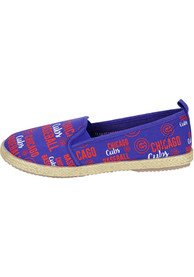 Chicago Cubs Womens Repeat Wordmark Shoes - Red