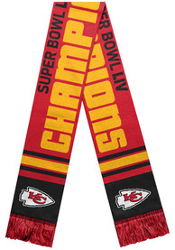 Kansas City Chiefs Super Bowl LIV Champions Acrylic Scarf - Red