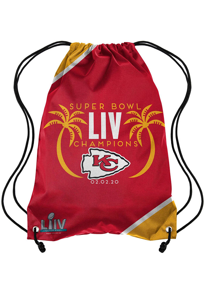 Kansas City Chiefs Super Bowl LIV Champions Team Color String Bag - Image 1