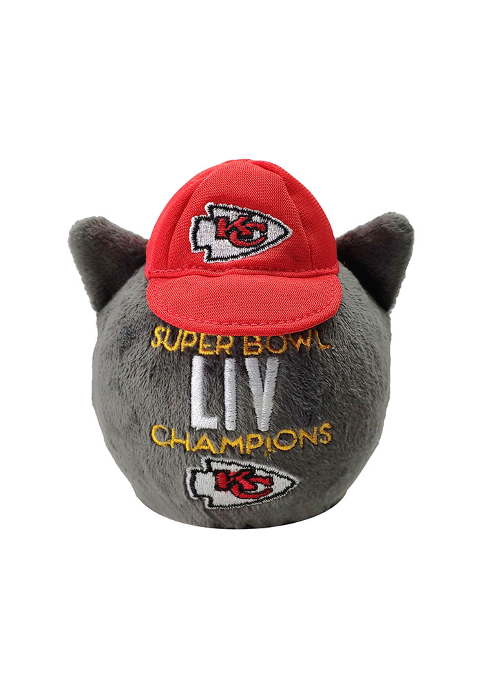 Kansas City Chiefs Super Bowl LIV Champions Mascot Puffz Plush - Image 2