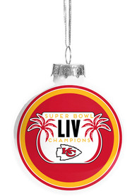 Kansas City Chiefs Super Bowl LIV Champions Glass Ball Ornament