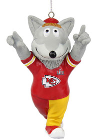Kansas City Chiefs Super Bowl LIV Champions Mascot Ornament