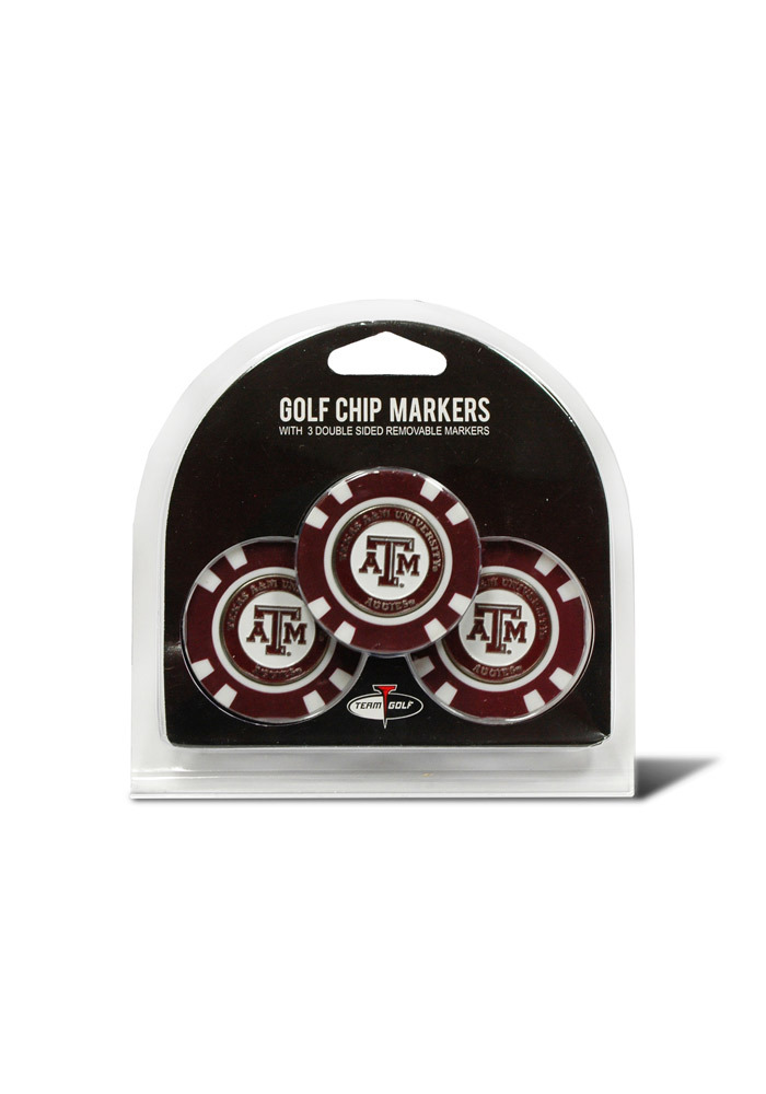 Texas A&M Aggies 3pk Poker Chip Golf Ball Marker - Image 1