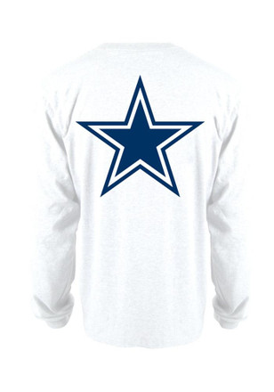Cowboys Mens White Rally Loud Tee