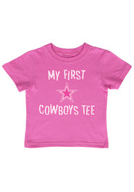Dallas Cowboys Infant Girls My First Tee Short Sleeve T-Shirt Pink
