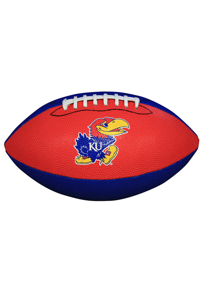 Kansas Jayhawks Grip Tech Rubber Football - Image 1
