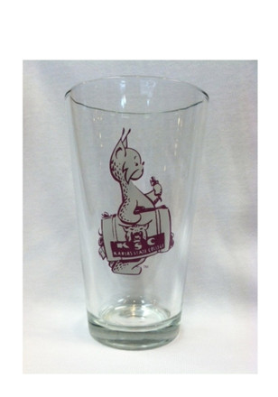 K-State Wildcats 1947 Mascot Logo Pint Glass