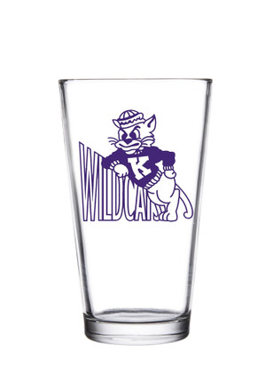 K-State Wildcats 1960 Mascot Logo Pint Glass