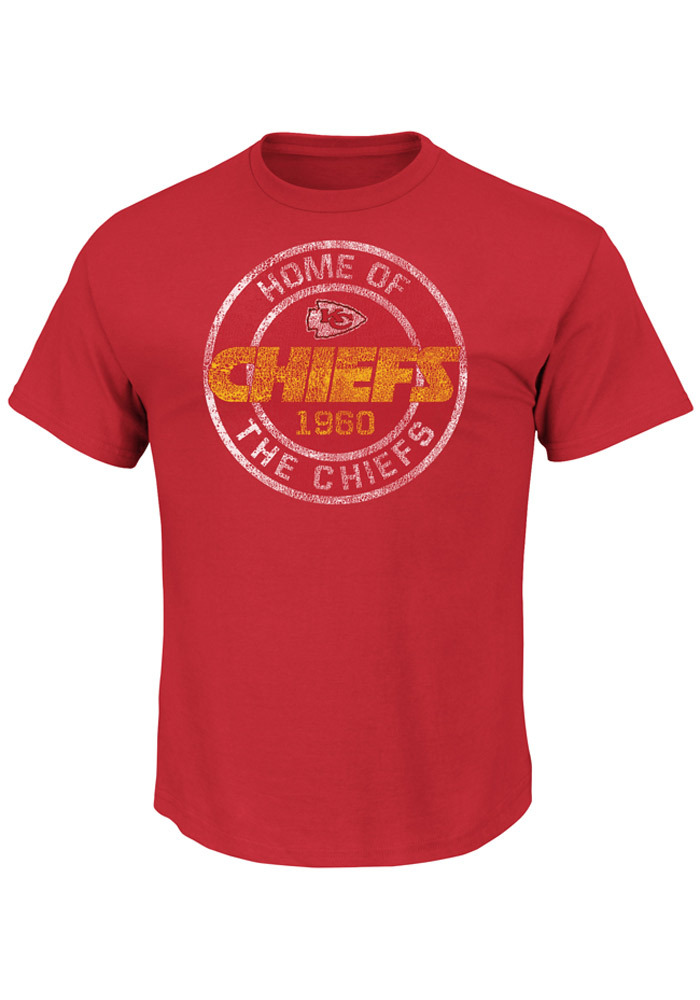 Majestic Kansas City Chiefs Red Home of the Chiefs Short Sleeve T Shirt - Image 1