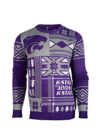 K-State Wildcats Mens Purple Big Logo Ugly Sweater
