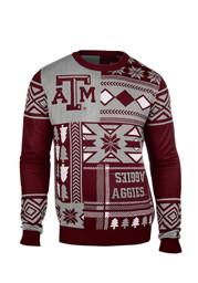 Texas A&M Mens Maroon Big Logo Ugly Sweater Sweater