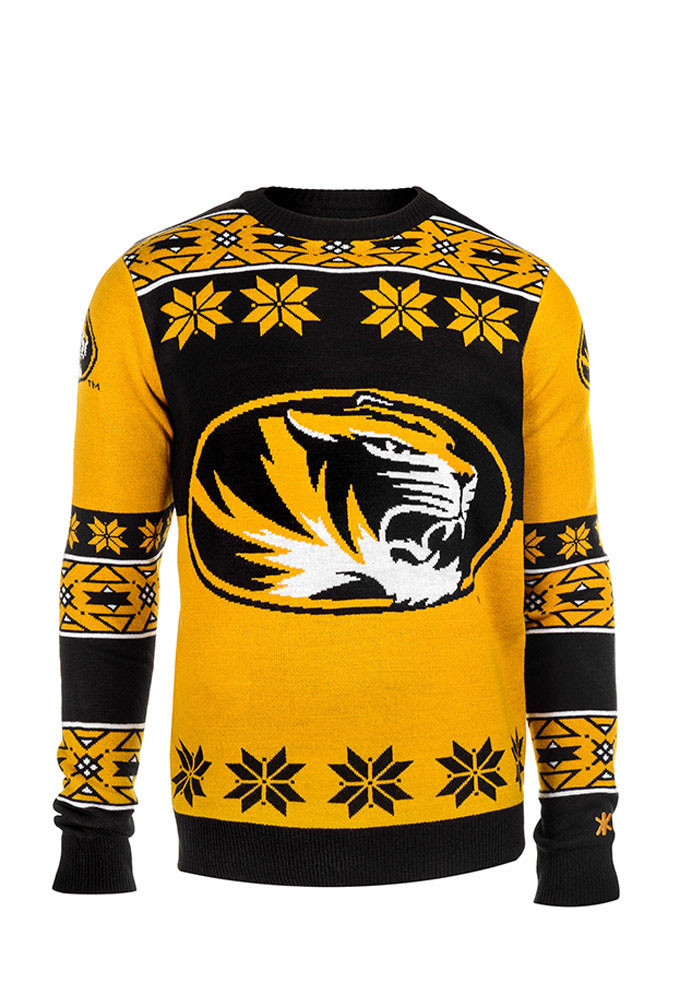 Missouri Tigers Mens Black Big Logo Long Sleeve Sweater - Image 1