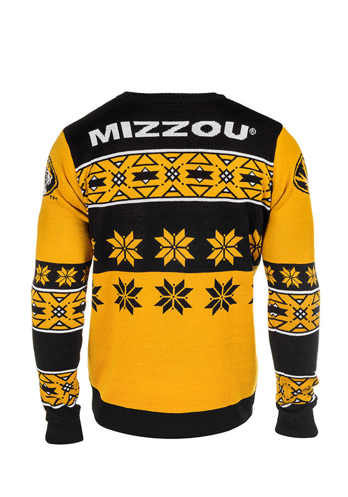 Missouri Tigers Mens Black Big Logo Long Sleeve Sweater - Image 2
