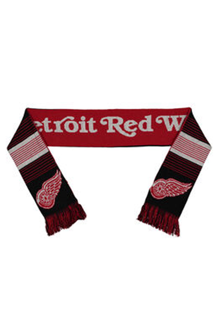 Detroit Red Wings Reversible Split Logo Mens Scarf - Image 1