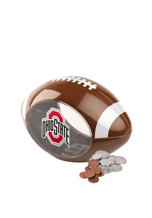 Ohio State Buckeyes Clear Ball Piggy Bank