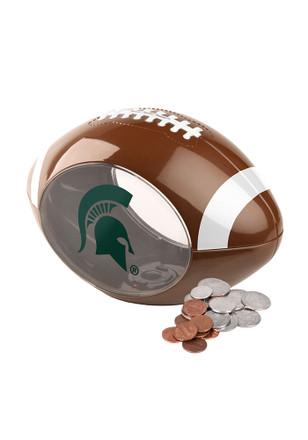 Michigan State Spartans Clear Ball Piggy Bank
