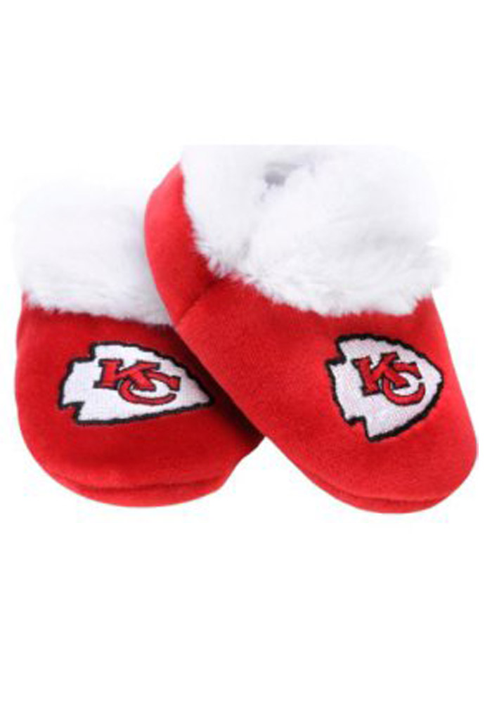 Kansas City Chiefs Fuzzy Baby Slippers - Image 1