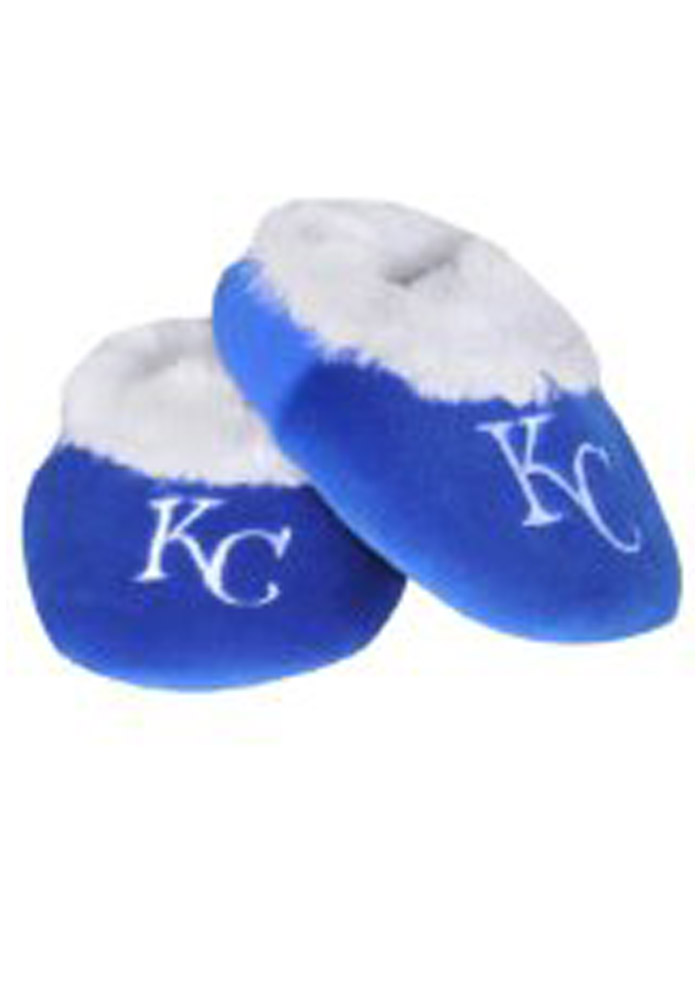 Kansas City Royals Fuzzy Baby Slippers - Image 1