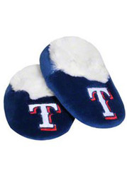 Texas Rangers Baby Fuzzy Slippers - Blue