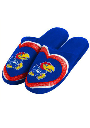 Kansas Jayhawks Glitter Slide Womens Slippers