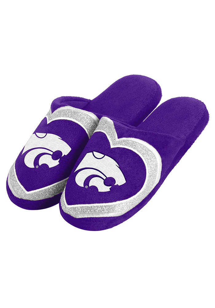 K-State Wildcats Glitter Slide Womens Slippers - Image 1