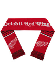 Detroit Red Wings Reversible Stripe Scarf - Red