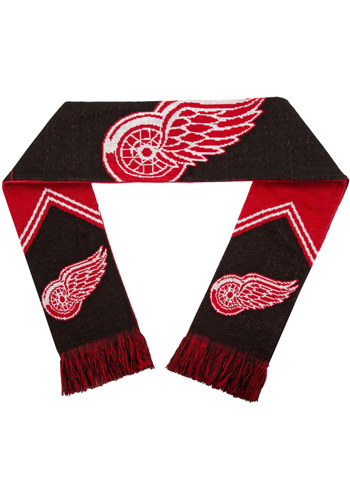 Detroit Red Wings Reversible Stripe Mens Scarf - Image 2
