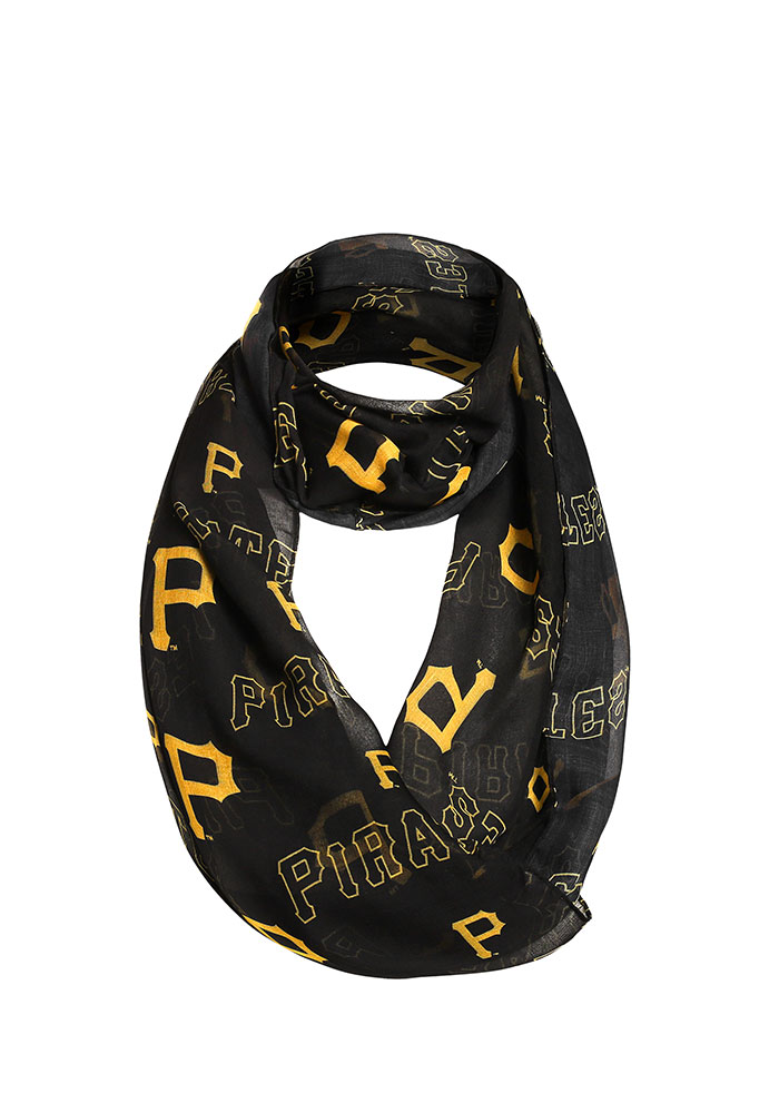 Pittsburgh Pirates Team Logo Infinity Womens Scarf - Image 1