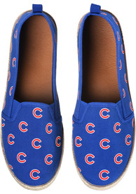 Chicago Cubs Womens Espandrille Canvas Shoes - Blue