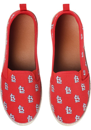 St Louis Cardinals Red Espandrille Canvas Womens Shoes