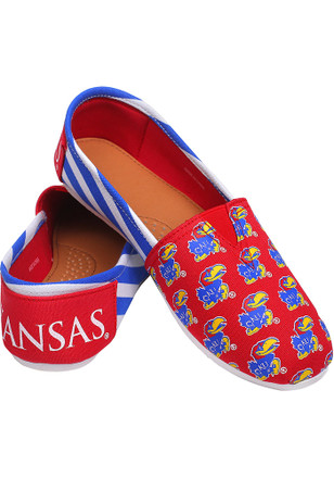 Kansas Jayhawks Blue Espandrille Canvas Womens Shoes