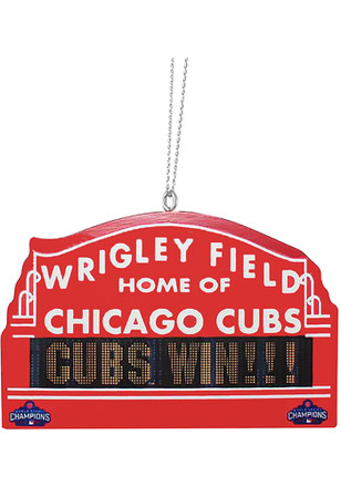 Chicago Cubs 2016 World Series Champions Ornament