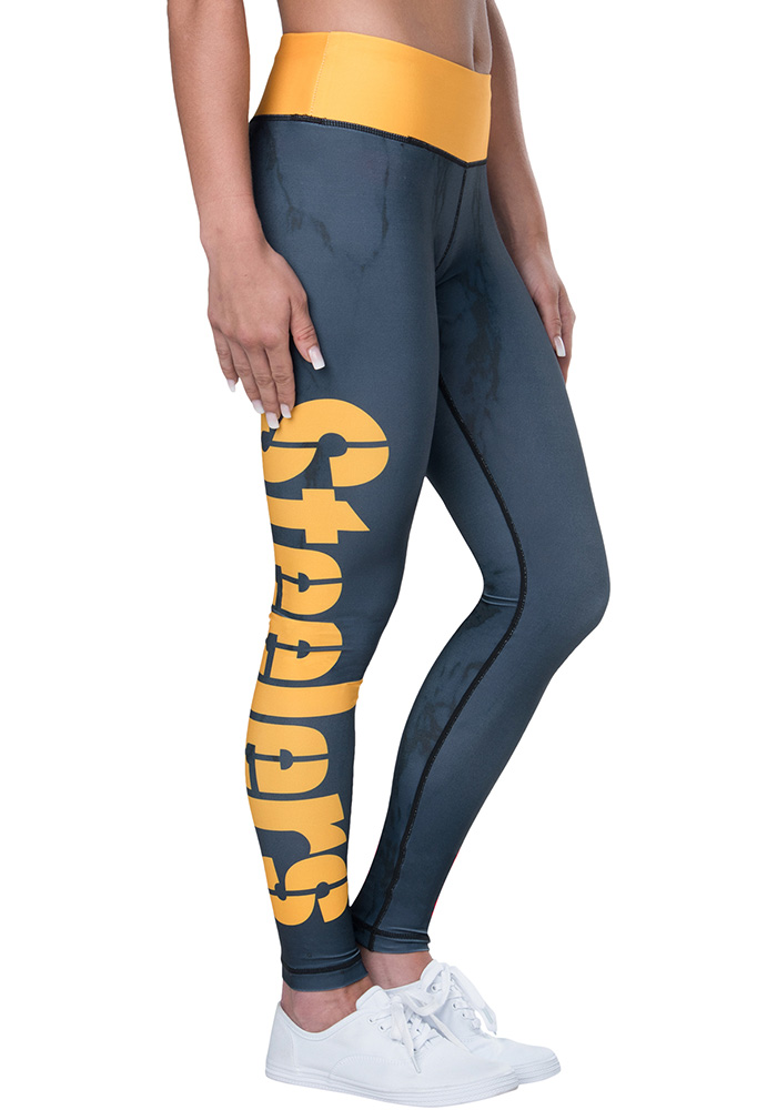 newest collection shades of really cheap Pittsburgh Steelers Womens Grey Marble Wordmark Pants - 16051625
