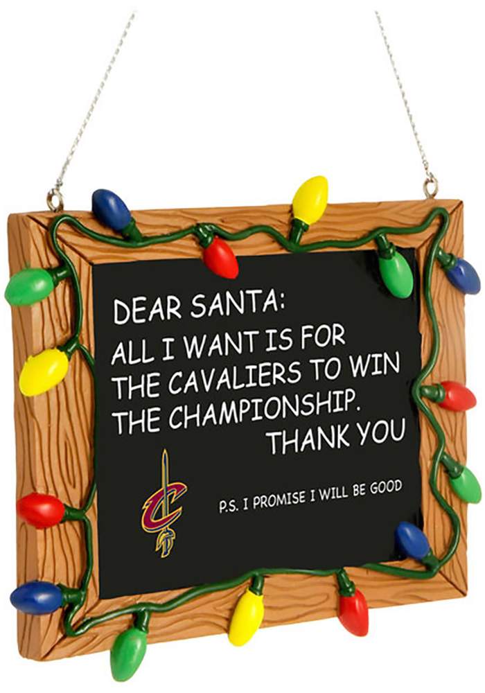 Cleveland Cavaliers Chalkboard Sign Ornament - Image 1