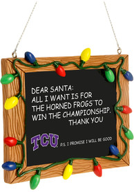 TCU Horned Frogs Chalkboard Sign Ornament