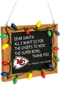 Kansas City Chiefs Chalkboard Sign Ornament