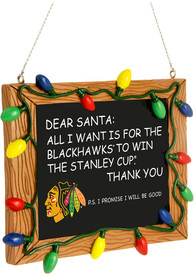 Chicago Blackhawks Chalkboard Sign Ornament