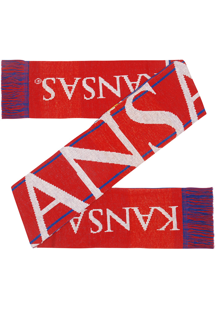 Kansas Jayhawks Two Sided Color Block Mens Scarf - Image 3