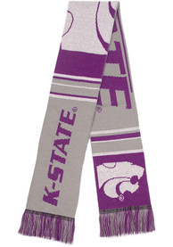 K-State Wildcats Two Sided Color Block Scarf - Purple