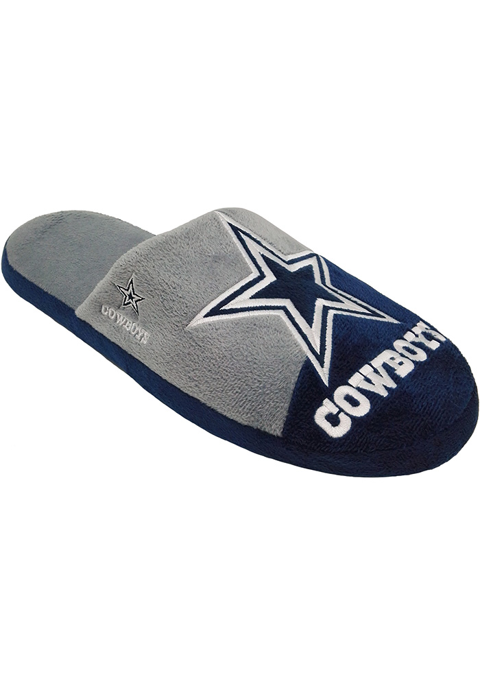 Dallas Cowboys Color Block Slide Youth Slippers - Image 1