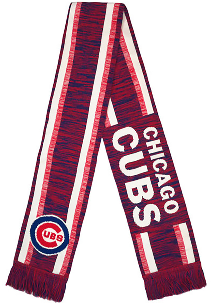 Chicago Cubs Knit Color Blend Mens Scarf - Image 1