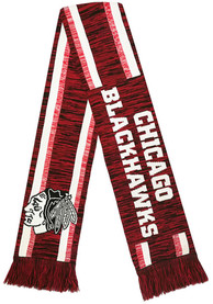 Chicago Blackhawks Knit Color Blend Scarf - Black