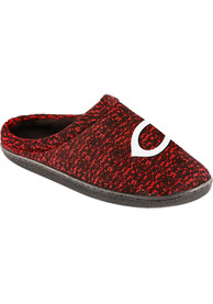 Cincinnati Reds Poly Knit Cup Sole Slippers - Red