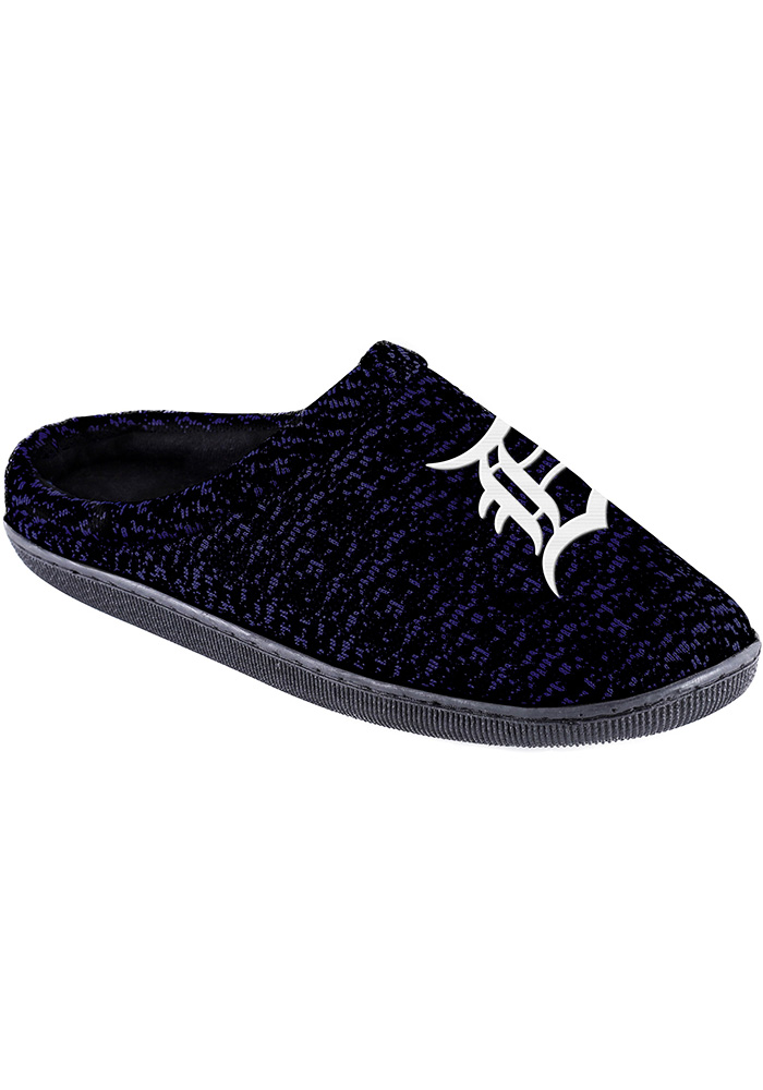 Detroit Tigers Poly Knit Cup Sole Mens Slippers - Image 1