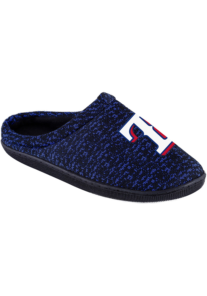 Texas Rangers Poly Knit Cup Sole Mens Slippers - Image 1