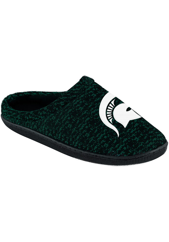Michigan State Spartans Poly Knit Cup Sole Mens Slippers - Image 1