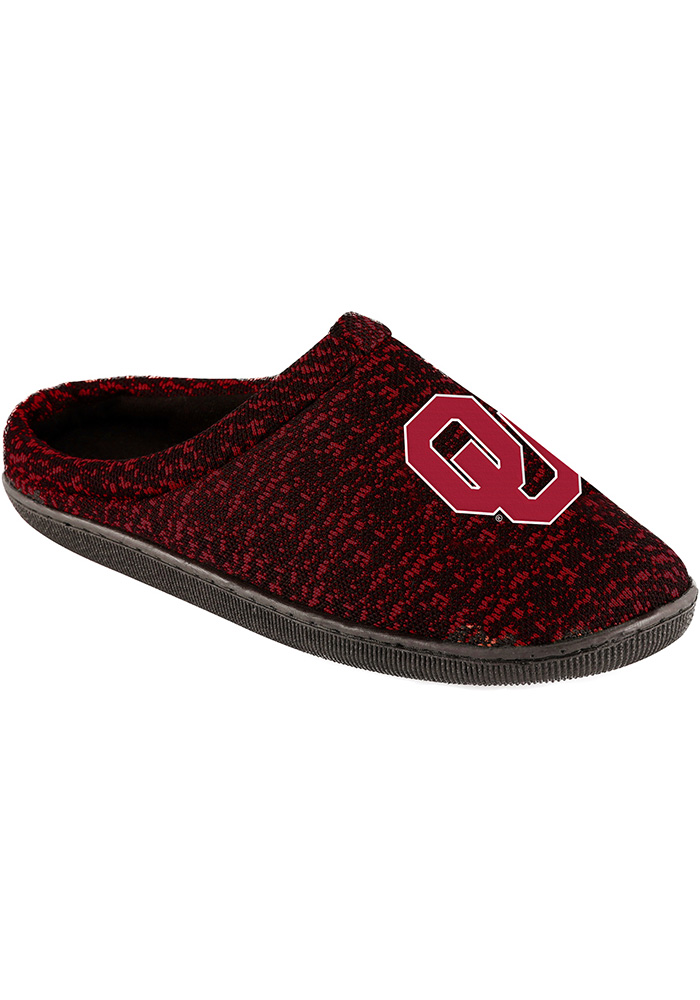 Oklahoma Sooners Poly Knit Cup Sole Mens Slippers - Image 1