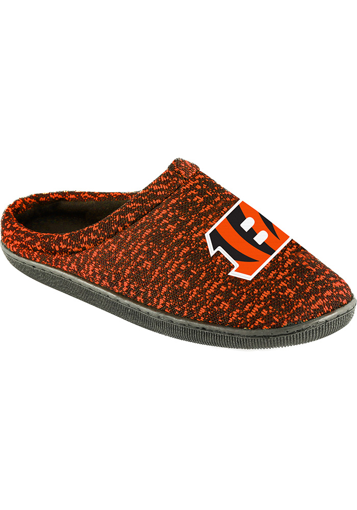 Cincinnati Bengals Poly Knit Cup Sole Mens Slippers - Image 1