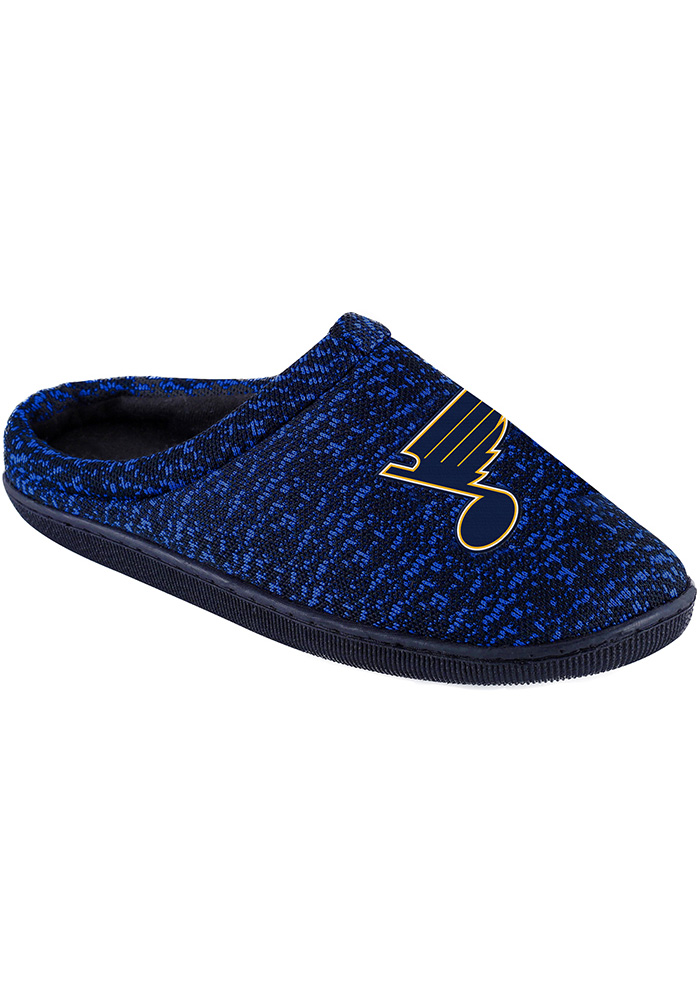 St Louis Blues Poly Knit Cup Sole Mens Slippers - Image 1