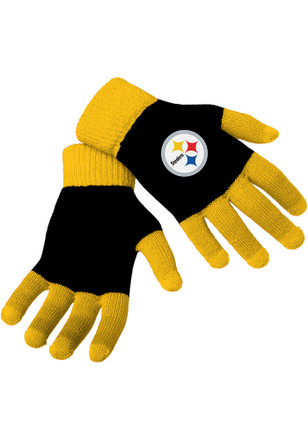 Pittsburgh Steelers Colorblock Gloves